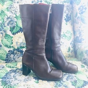 Tommy Hilfiger Riding Boots Size 9.5M Chunky Heel